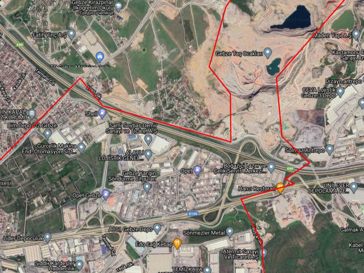 Kocaeli Gebze'de Satılık Sanayi Arsası - Büyük 0