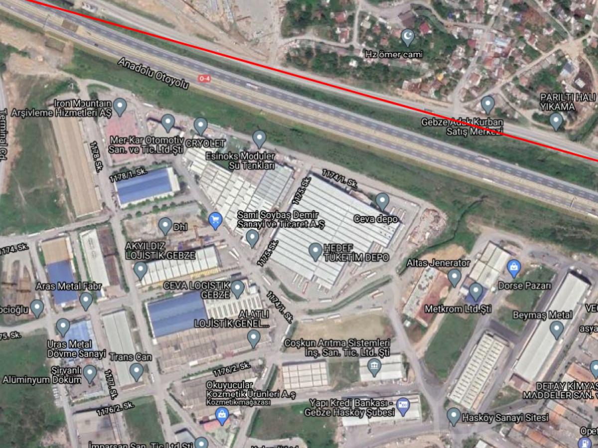 Kocaeli Gebze'de Satılık Sanayi Arsası - Büyük 1