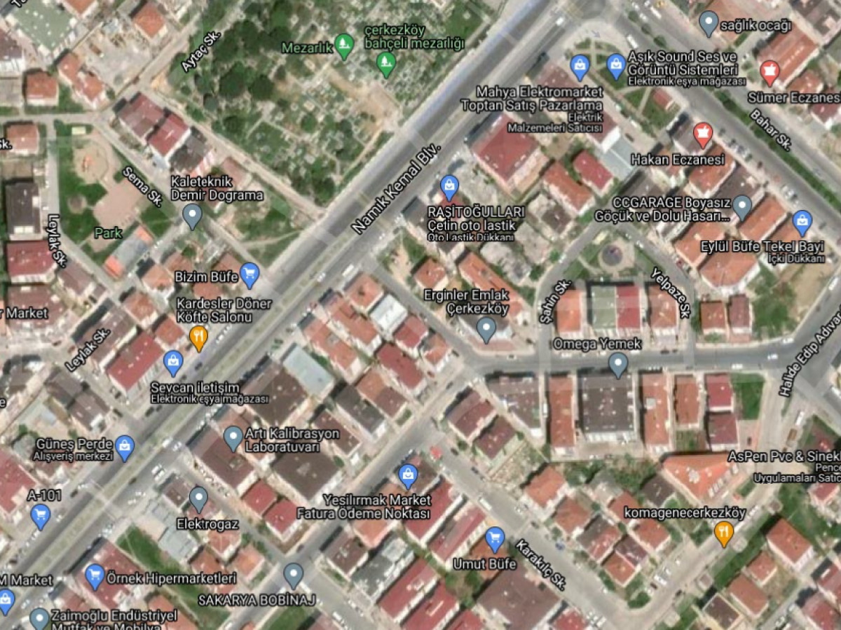 Tekirdağ Çerkezköy'de Konut İmarlı Satılık Arsa - Büyük 0