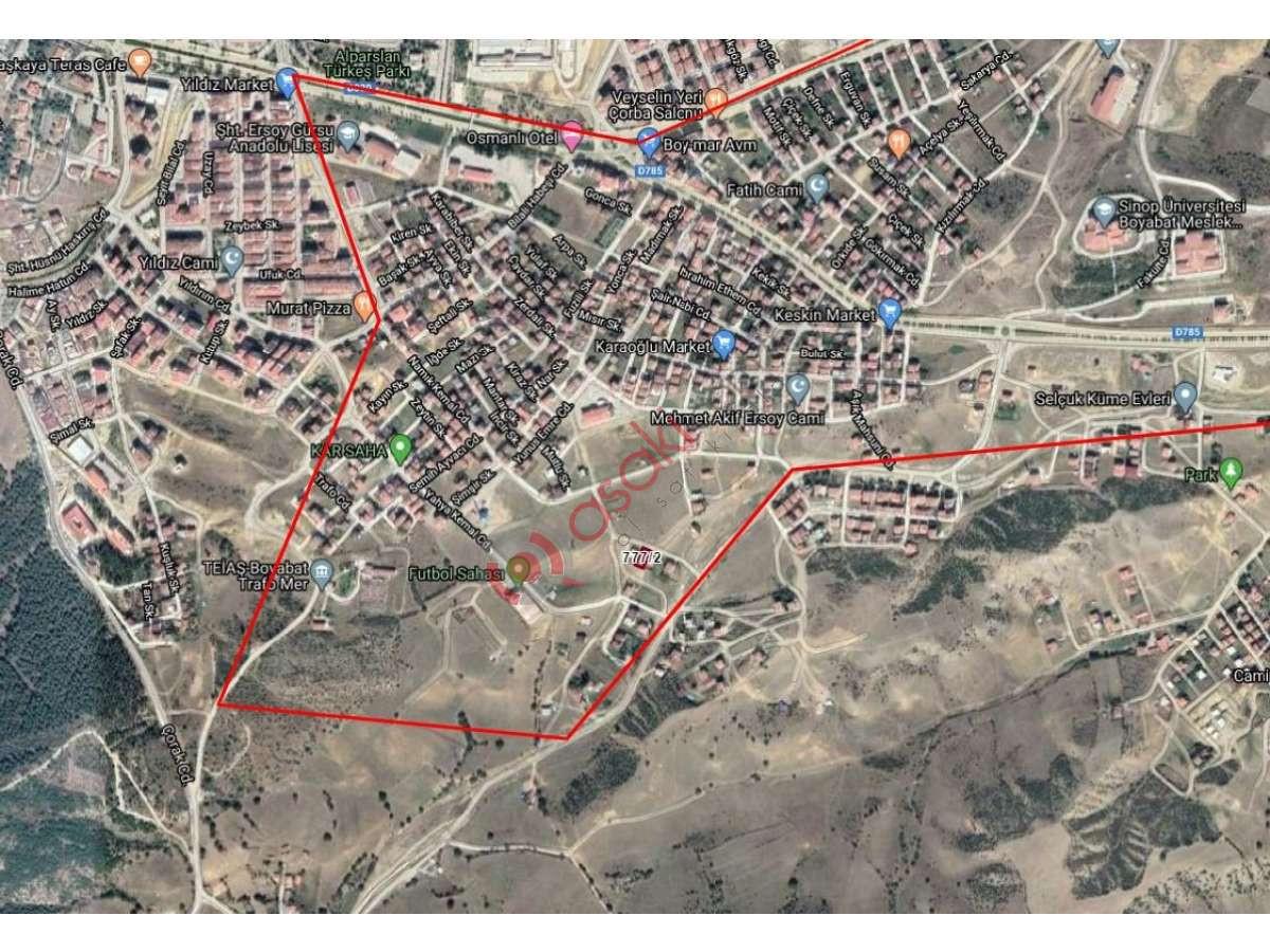 Sinop Boyabat'a Çift Dairelik  416 M2 Satılık Arsa - Büyük 1