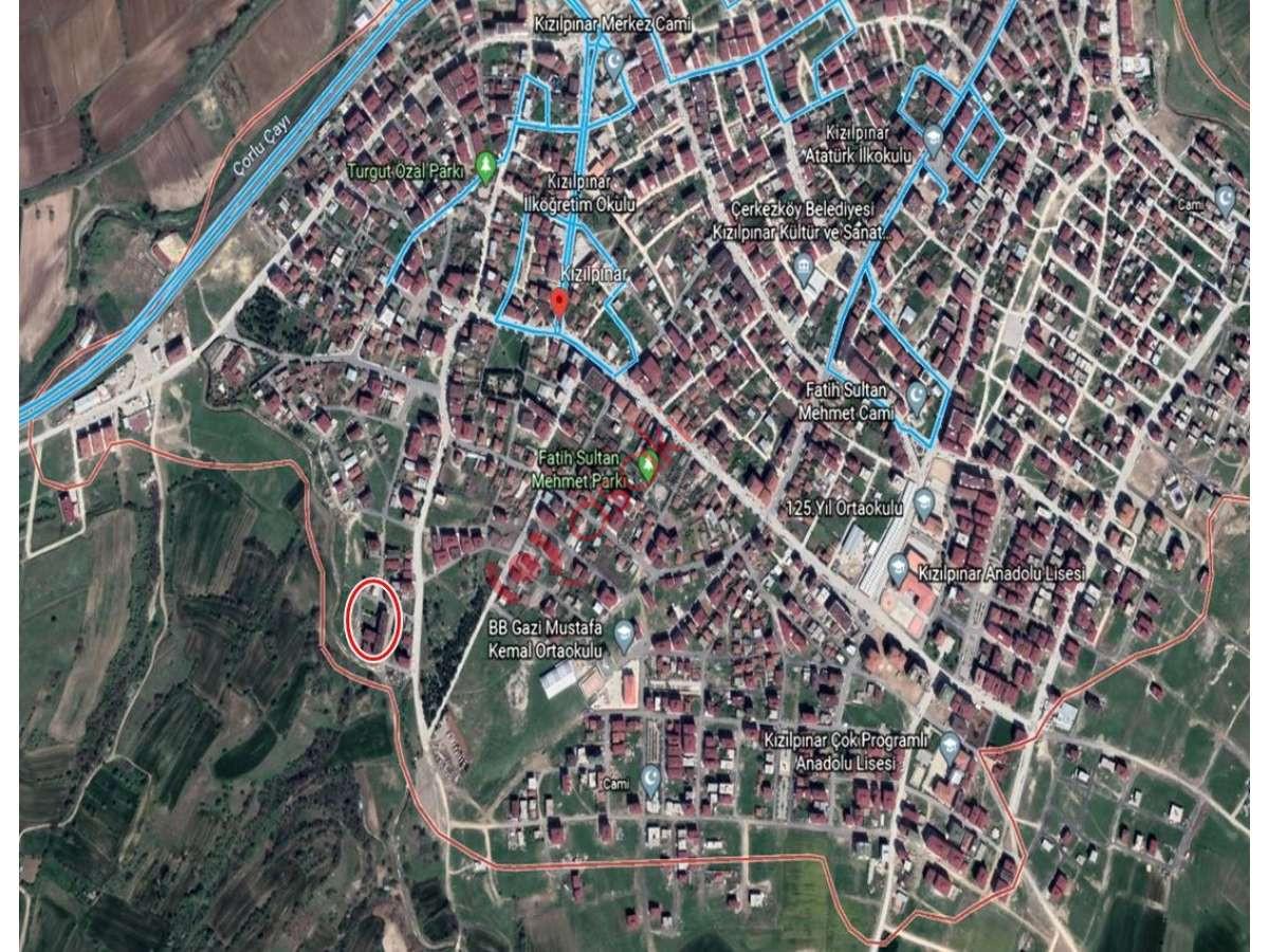 çerkezköy Kızılpınar'da Satılık Konut Imarlı 42 Dairelik - Büyük 0