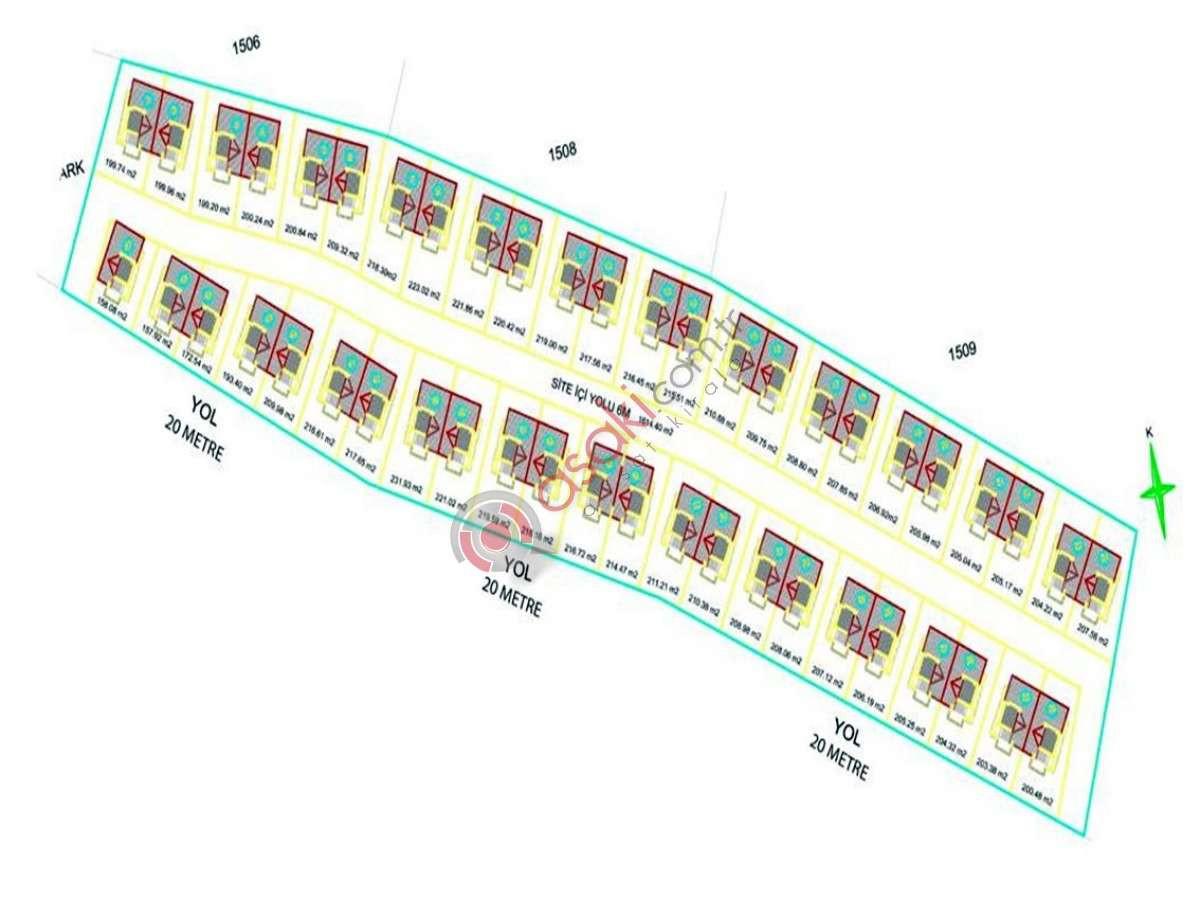 Tekirdağ Merkez'de Acil Satılık 11361 M² Projeli Arsa - Büyük 1