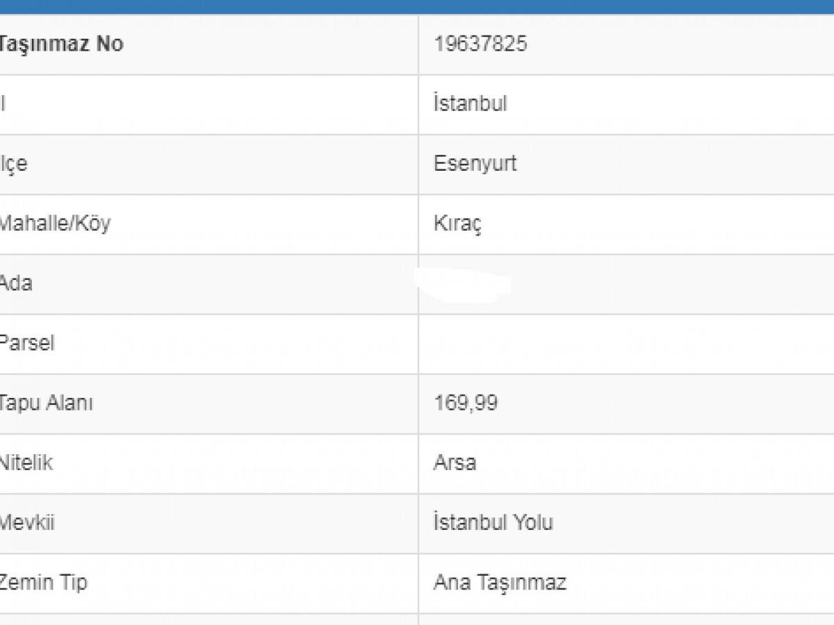 Esenyurt Kıraç Gazi caddeye cephe 169, m2 satılık arsa - Büyük 2