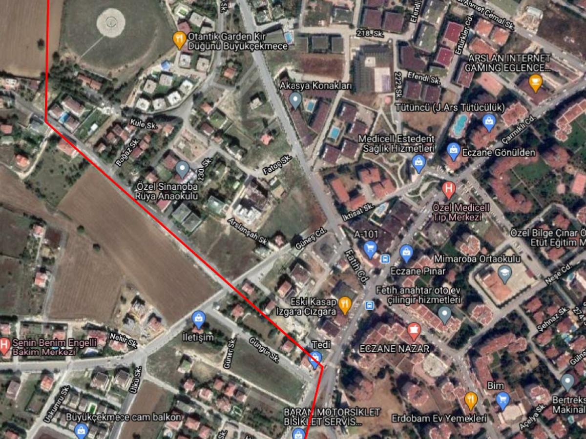 Büyükçekmece Mimaroba Mah 3.710 m2 Kat Karşılığı Arsa - Büyük 6
