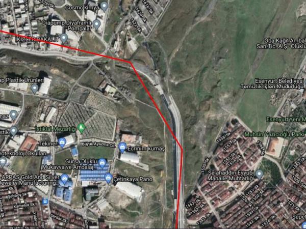 Esenyurt Akşemseddin Mah 1.292 m² Sanayi İmarlı Satılık Arsa