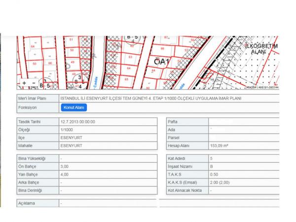 Esenyurt Akşemseddin Mh 153 m2 4 Katlı Satılık Bina