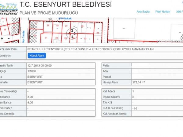 ESENYURT İNCİRTEPE MAH 172 m2 SATILIK ARSA