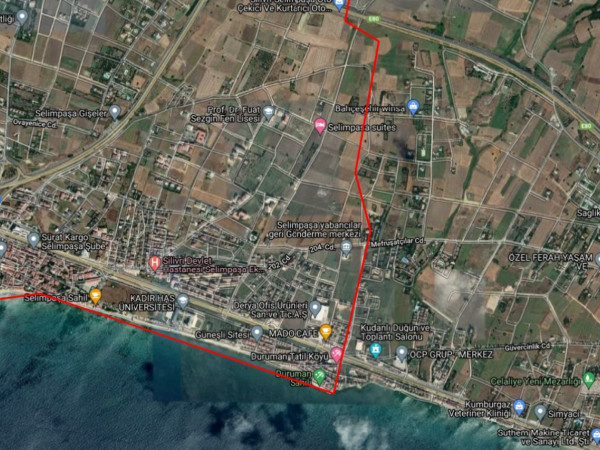 Silivri Selimpaşa Mah 2.660 m2 %50 Oranla Kat Karşılığı