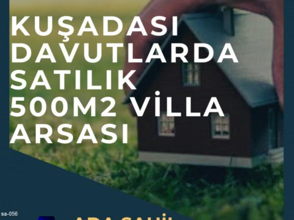 Kuşadası Davutlarda Satılık 500m2 Villa İmarlı Arsa